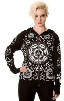 Black Pentagram Hoody HBN044