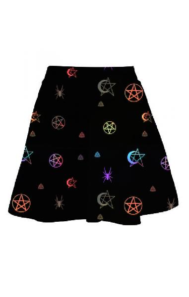Rainbow Witch Skater Skirt