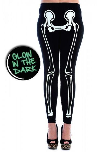 Glow In The Dark Skeleton Leggings