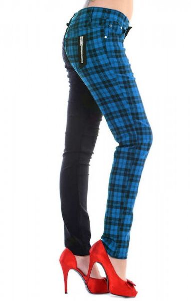 Half Check Trousers - Blue