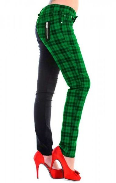 Half Check Trousers - Green