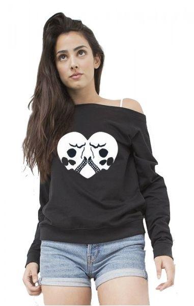 Loved To Death Off Shoulder Sweater