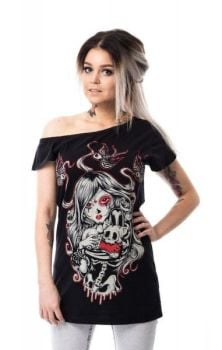 Cat Muerte Off Shoulder Top