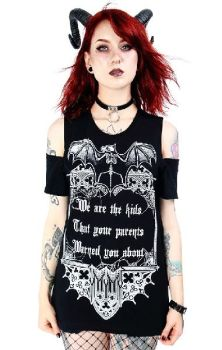 We Are The Kids Cold Shoulder Top