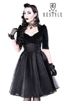Black Velvet Pin-Up Dress