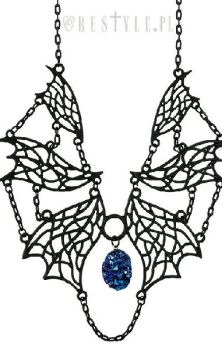 Elvish Necklace With Blue Crystal