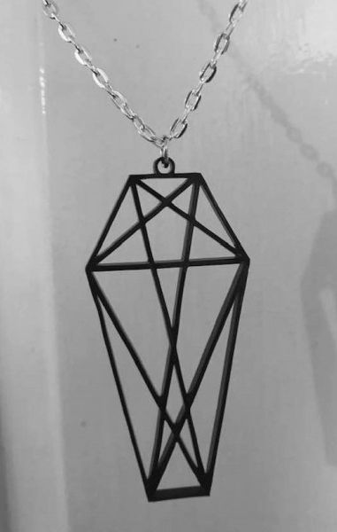 Geometric Coffin Necklace