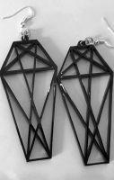 Geometric Coffin Earrings
