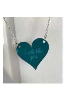 I will kill you Myriad Mirror Heart Necklace