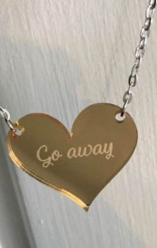 Go Away Myriad Mirror Heart Necklace