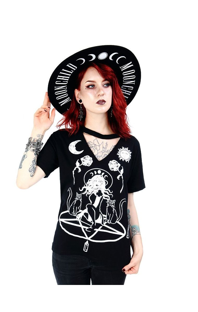 Witch And Cats Tshirt