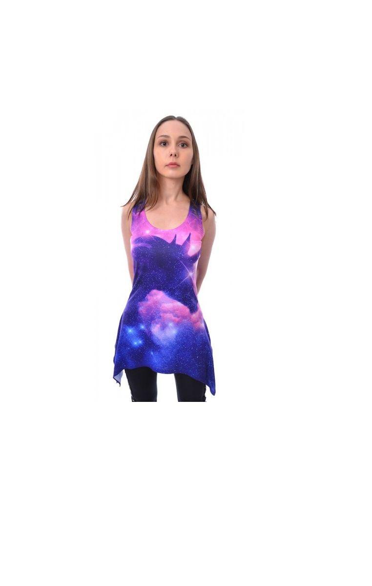 Unicorn Galaxy Lace Panel Vest