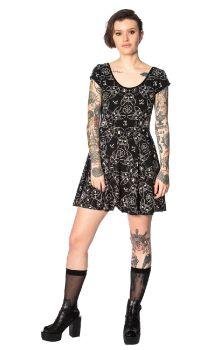 Teen Goth Cat Dress DR16079