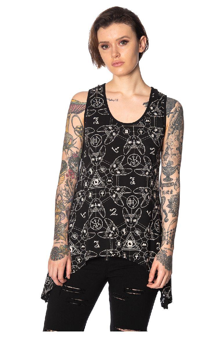 Teen Goth Cat Vest