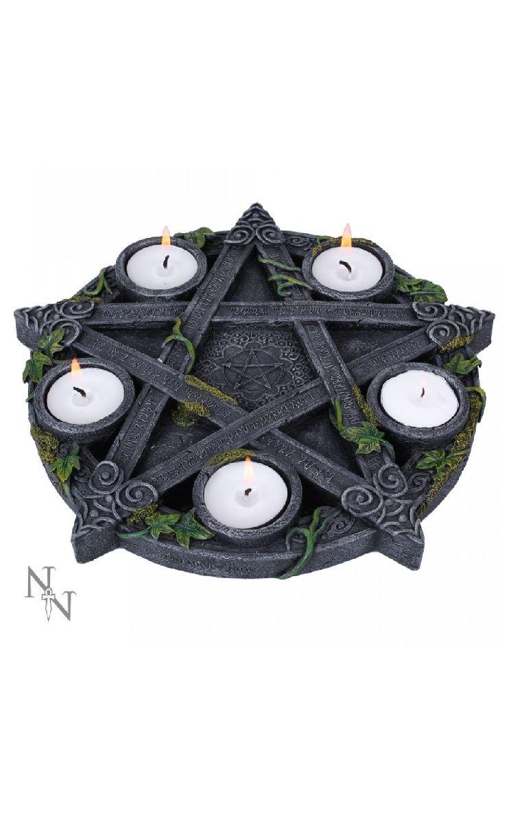 Wiccan Pentagram Tea light Holder