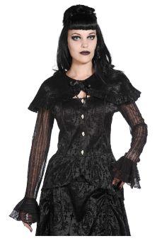 Black Lace Satin Shirt EBN1006