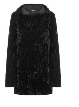 Minimal Goth Velvet Hoodie HD1274