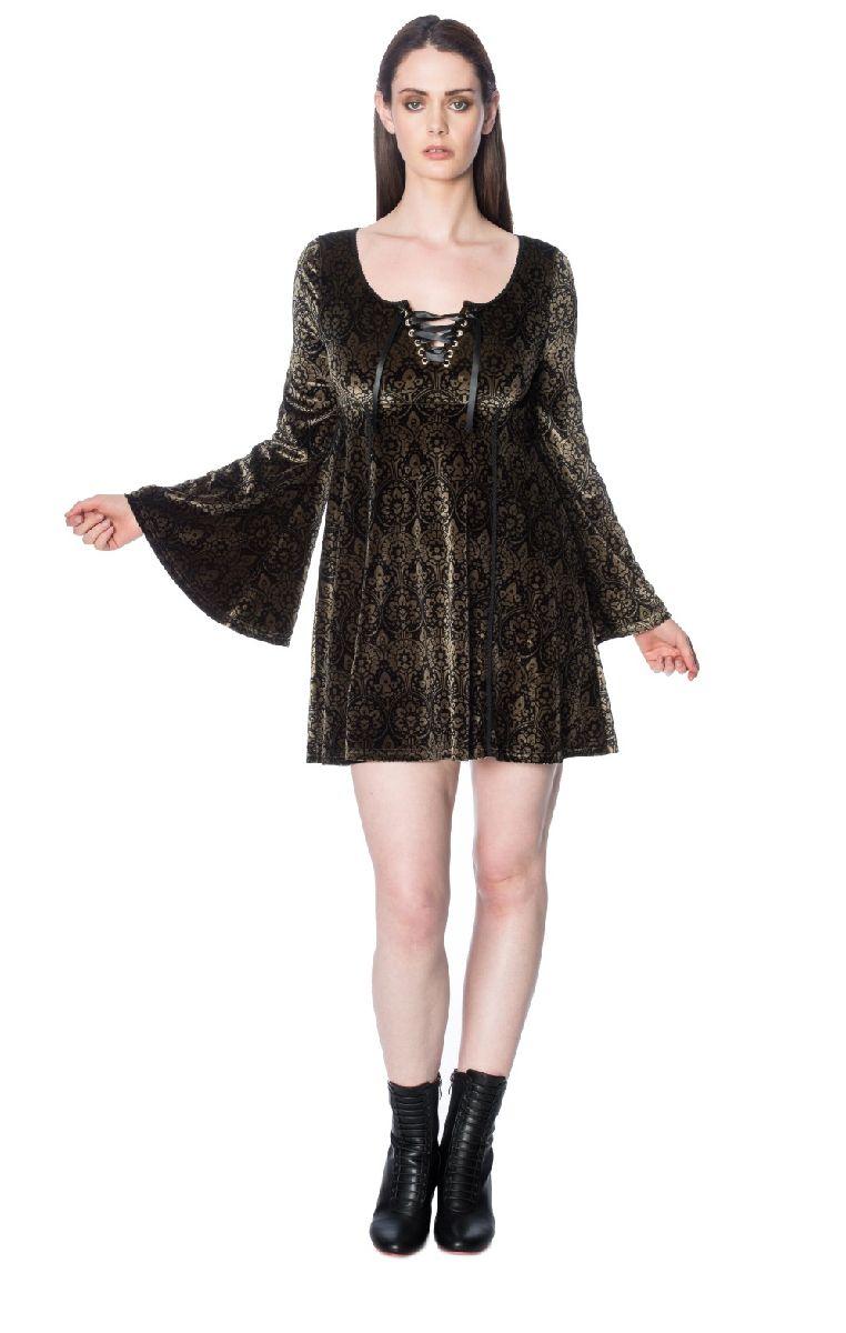 Damask Flared Dress DR5561