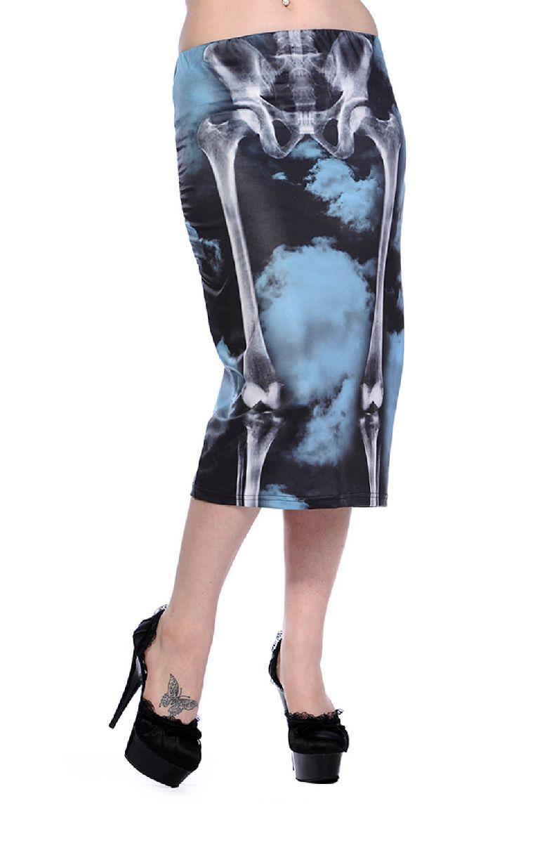 Skeleton Black Pencil Skirt SBN223