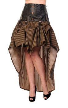 Brown Stripe Victorian Skirt SBN218