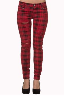 Move On Up Trousers Red TR4053