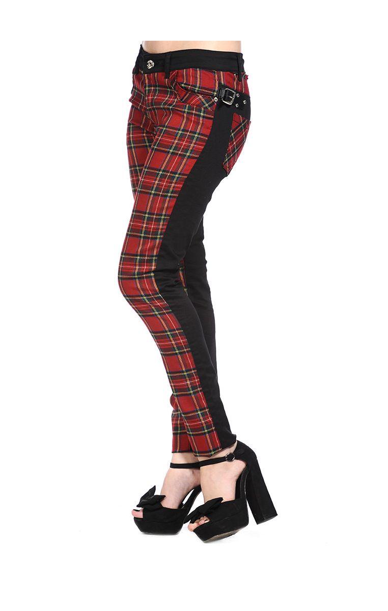Tartan Skinny Jeans TBN418