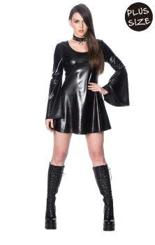 Minimal Goth Dress DR5636