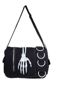 Skeleton Hand Messenger Bag BBN736