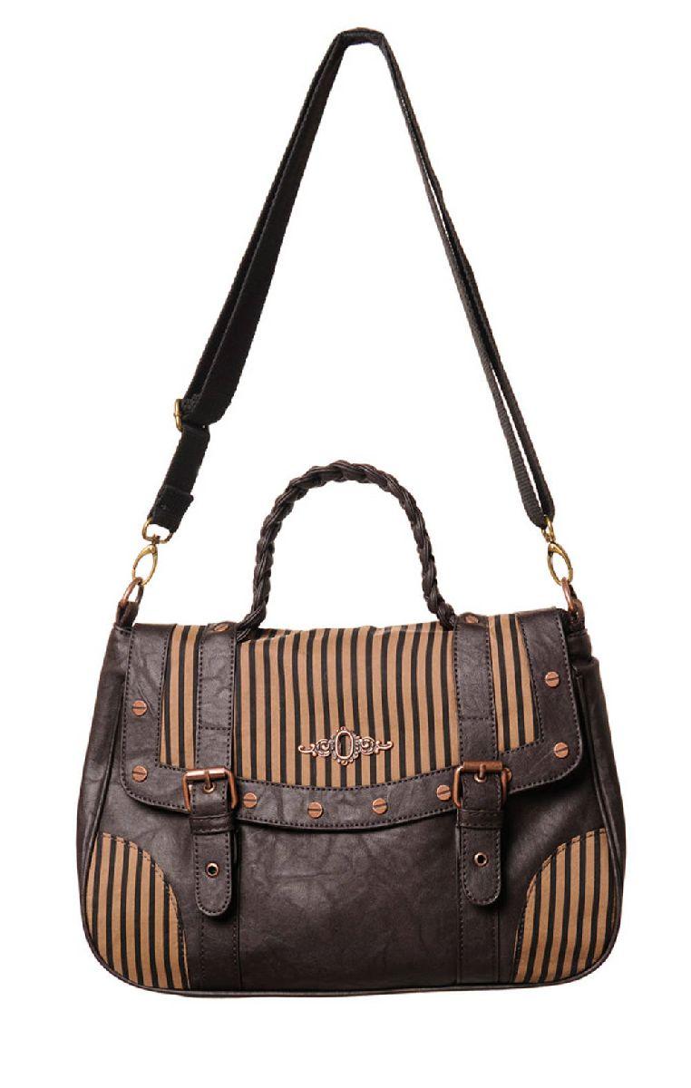Brown Stripe Handbag