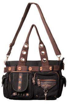 Black/Brown Key Handbag