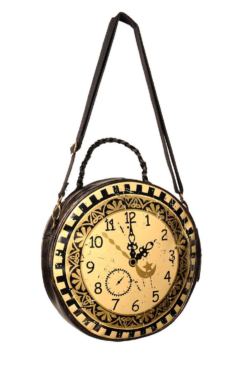 Clock Circular Round Bag