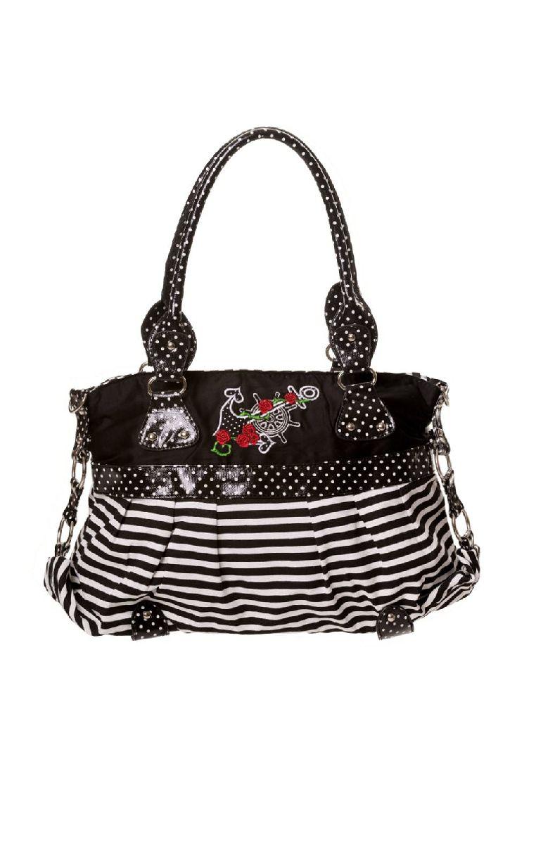 Dots Striped Anchor Handbag