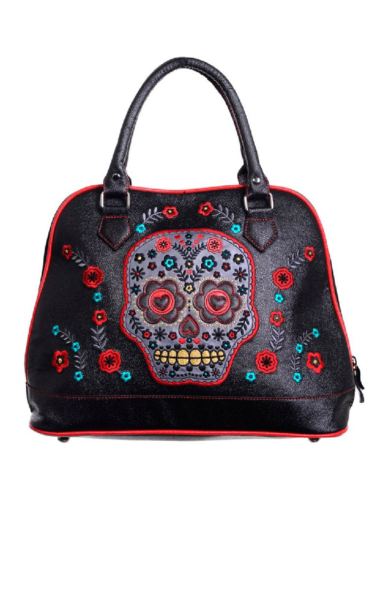 Purple Sugar Skull Handbag