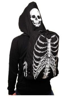 Skeleton Hooded Backpack BBN704