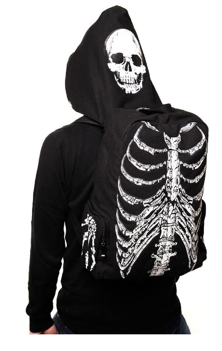 Skeleton Hooded Backpack