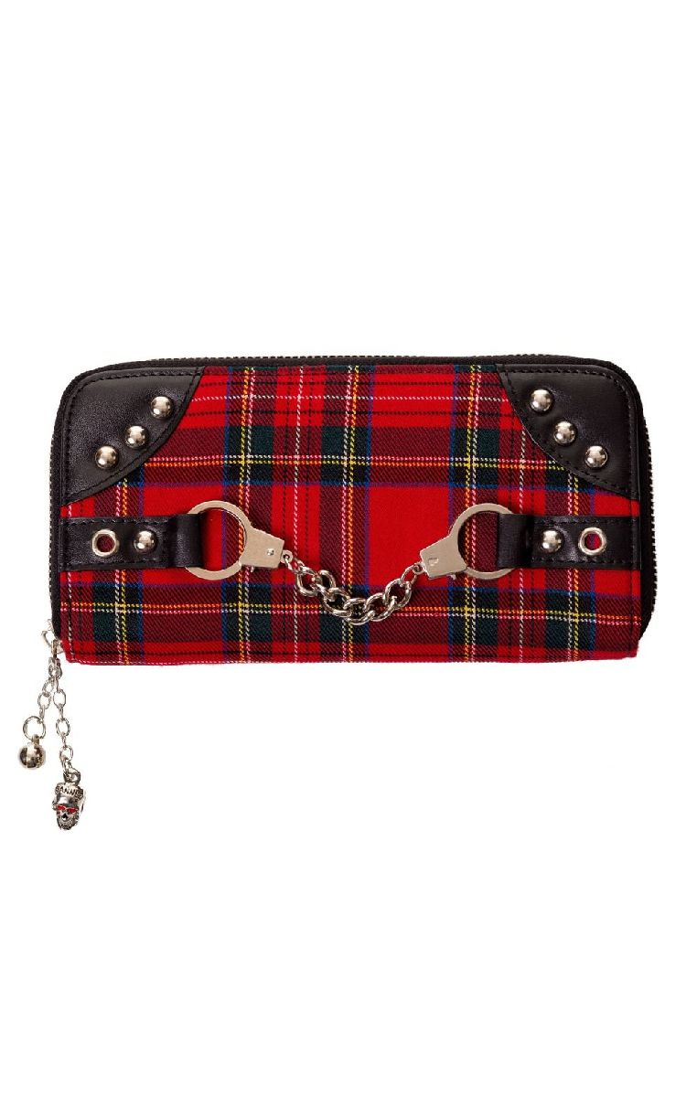 Red Tartan Handcuff Wallet