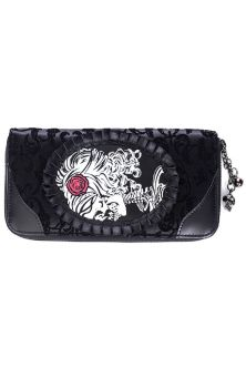 Ivy Black Cameo Lady Lace Wallet