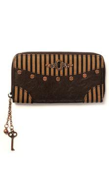 Brown Stripe Wallet WBN1408