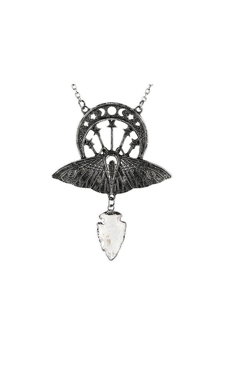 Crystal Moon Moth Necklace