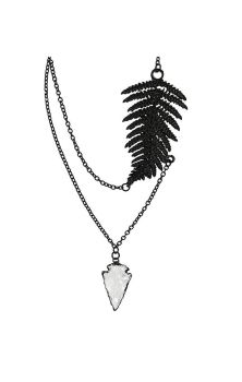 Fern Necklace Black