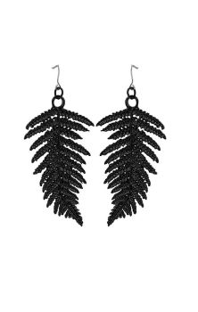 Fern Earrings Black