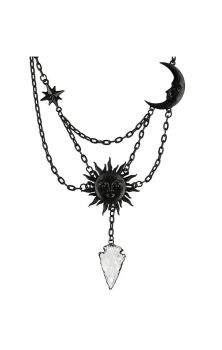 Moon & Sun Necklace Black