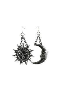 Moon & Sun Earrings Silver