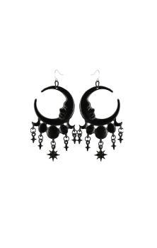 Sleepless Nights Earrings Black
