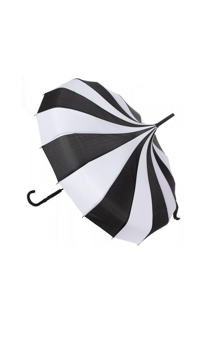 Pagoda Umbrella Black/White