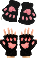 Cat Paw Gloves - Black
