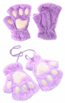 Cat Paw Gloves - Lilac