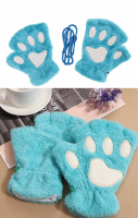 Cat Paw Gloves - Blue
