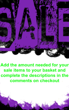 Sale Items - PLEASE READ THE DESCRIPTION!!