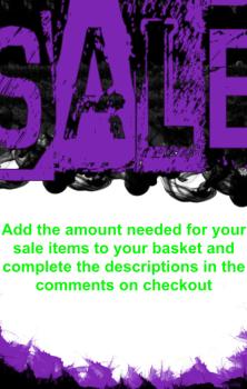 Sub Sale Item - PLEASE READ THE DESCRIPTION!!